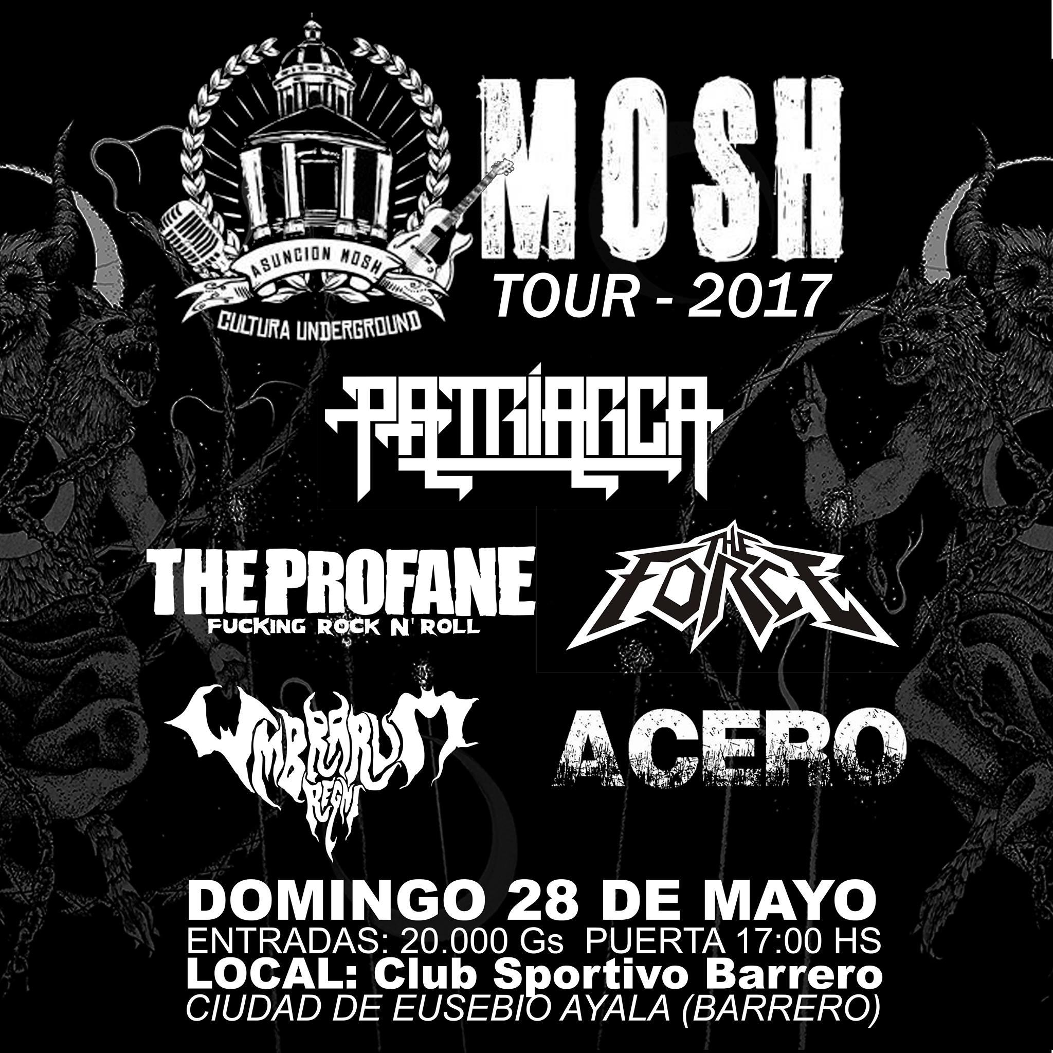 Mosh Tour 2017 en la ciudad de Barrero