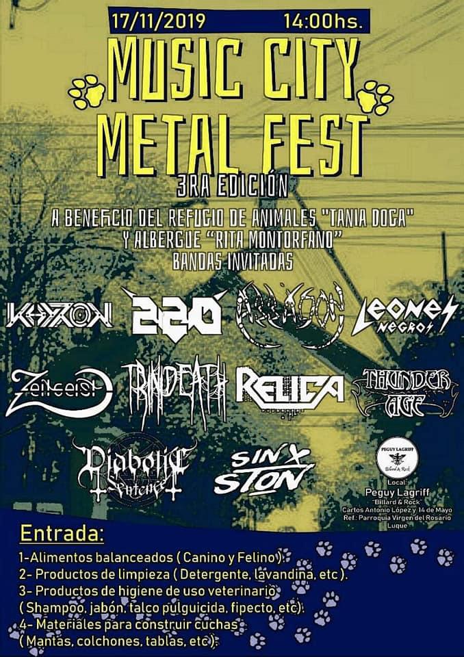 Music City Metal Fest - 3ra. Edición